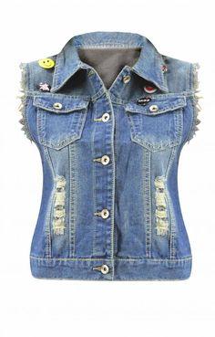 Γυναικείο γιλέκο με σκίσιμο | Nέες Παραλαβές - Γυναίκα | Metal Denim Vest, Denim, Jackets, Fashion, Down Jackets, Moda, Fashion Styles, Fashion Illustrations, Jacket