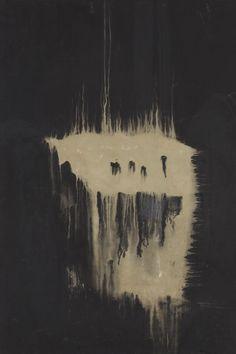 Ryuji Tanaka (1927-2014), Untitled, ca. 1962 - 1966, mineral pigments and mixed media on canvas, 195 x 132 cm