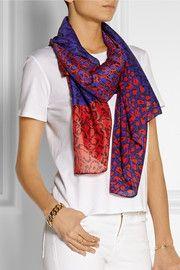 Diane von FurstenbergNew Boomerang printed silk scarf
