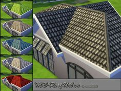 MB-RoofUrban, roof with rough urban tile, comes in 6 different colors, created for Sims 4, by matomibotaki. Found in TSR Category 'Sims 4 Roofs'