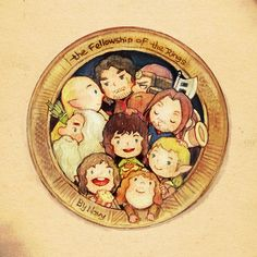 The Fellowship of the Ring… so cute! #lotr #lordoftherings #fanart