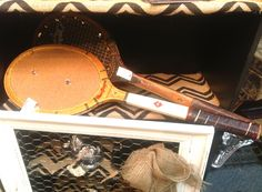 Kool re-purposing idea! Vintage Tennis Rackets made into cork boards and jewelry hangers. Only 11.00 each, in booth 276 at the Brass Armadillo Antique Mall. 888-847-5260