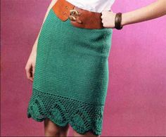 юбка с ажурной отделкой