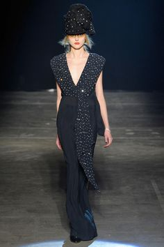 Band of Outsiders Fall 2013 RTW Collection - Fashion on TheCut.  The hat, it is ridiculous, but the gown is lovely.