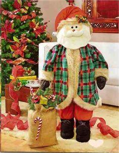 Patrón Noel Grande Felt Christmas, Christmas Sweaters, Christmas Crafts, Christmas Decorations, Diy Gift Baskets, Ronald Mcdonald, Projects To Try, Santa, Teddy Bear