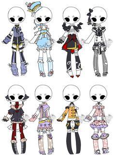 .:Adoptable:. Outfit Batch 04 [1/8] by DevilAdopts.deviantart.com on @DeviantArt