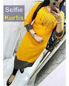 Best Sellers of Online Kurtis For Women clothing - IndiaRush Salwar Suit Neck Designs, Kurta Neck Design, New Kurti Designs, Kurta Designs Women, Blouse Designs, Kurti Embroidery Design, Sleeves Designs For Dresses, Latest Outfits, Women's Fashion Dresses