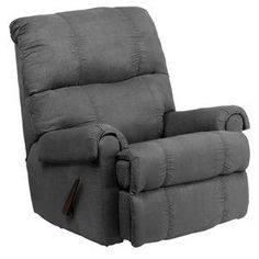 Flash Furniture Contemporary Flatsuede Graphite Microfiber Rocker Recliner WM-8700-113-GG