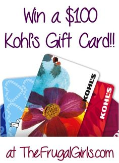 $100 Kohl's Gift Card Giveaway!! ~ at TheFrugalGirls.com - score some cute new clothes or back-to-school deals! #backtoschool #thefrugalgirls