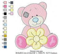 pink bear embroidery - embroideryfreecandy.over-blog.com