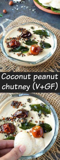 Coconut peanut chutney for idli & dosa (V+GF) #coconutpeanutchutney #chutney #coconut #idli #southindian @aromaticessence