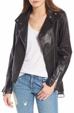 Mackage Miela-N Belted Leather Moto Jacket Suede Jacket, Moto Jacket, Leather Jacket, Autumn Fashion Casual, Fall Fashion Outfits, Street Style 2017, Nordstrom Anniversary Sale, Classic Outfits, Jackets Online