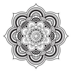 Wall Mural Mandala. Round Ornament Pattern