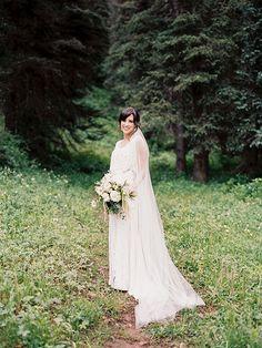 Intimate mountain wedding in Colorado