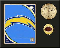 San Diego Chargers Team Logo Photo Inserted In A Gold Slide In Frame & Mounted On A Plaque With Arabic Clock -Awesome & Beautiful-Must For Any Fan! Art and More, Davenport, IA http://www.amazon.com/dp/B00NHFJZYW/ref=cm_sw_r_pi_dp_Wwdxub16N32AK