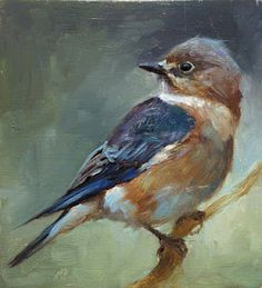 Little painted bluebird... Bird Painting Acrylic, Peacock Painting, Painting & Drawing, Watercolor Art, Mini Paintings, Easy Paintings, Animal Paintings, Small Birds, Little Birds