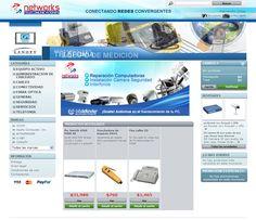 Pagina web y tienda virtual de una empresa de camaras de seguridad, interfonos y reparación de computadoras