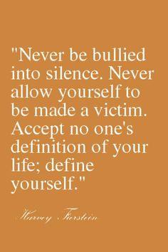 Define yourself.