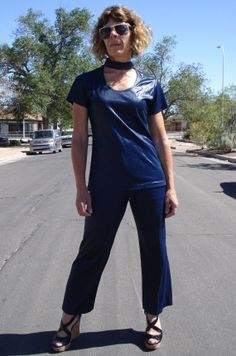 Vintage 1960s Pantsuit Polyurethane Wet Look with by bycinbyhand, $75.00