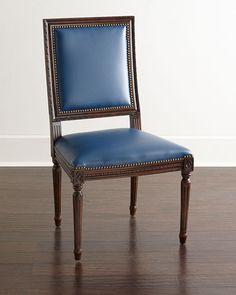 H7SW5 Massoud Ingram Leather Dining Chair, B9