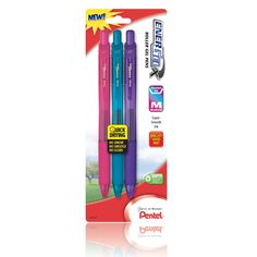 EnerGel-X RollerGel Pen, assorted 3-pack - Pentel