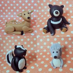 fondant woodland friends - if only I could make these wonderful creatures.