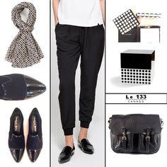 Boutique Le133 collection hiver 2015 chaussures sacs CRAIE écharpe coffret à bijoux et carnet memolino noir et blanc de REMEMBER. En vente au 133 rue d' antibes à CANNES