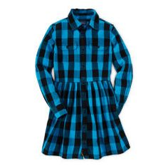 Cotton Buffalo Plaid Dress - Girls 7-16 Dresses & Skirts - RalphLauren.com