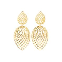 Paul Morelli 18k Gold Leaf Earrings
