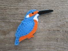 Cute felt kingfisher magnet from my Folksy shop Grey Wagtail, Felt Magnet, Any Birds, Gifts For Nature Lovers, Kingfisher, Gifts For Dad, Magnets, Handmade Items, Embroidery