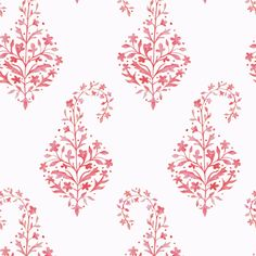 Painted Paisley in Coral fabric by danikaherrick on Spoonflower - custom fabric