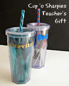 Cup of Sharpies Teacher Gift
