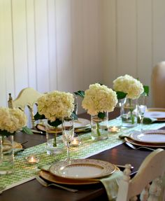 Green-spiration – A Gold, Green and White Tablescape