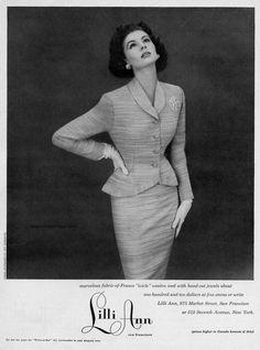Lilli Ann 1953 - Suzy Parker, photo by Richard Avedon