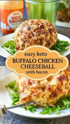 This keto buffalo chicken cheese ball is covered in bacon and absolutely delicious! Perfect for a party or just for a keto snack, this cheese ball is great on low carb crackers or with raw veggies. You put it together in a about 10 minutes and 1 tablespoon has only 0.4g net carbs! #buffalochicken #cheeseball #lowcarbrecipes #Ketorecipes #appetizer #easyrecipe #bacon Low Calorie Dinners, Low Calorie Recipes, Chicken Cheese Ball Recipe, Keto Chicken, Low Carb App, Beef Recipes, Cooking Recipes, Kitchen Recipes, Chicken Recipes