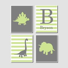 Dinosaur Nursery Art Prints Baby Jude S Room Art Wall