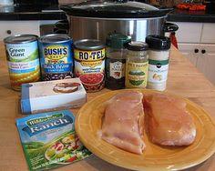 Crock Pot Cream Cheese Chicken Chili