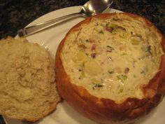 Clam Chowder in Sourdough Bread Bowls
