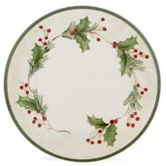 """Lenox Holiday Gatherings Dinner Plate - Holiday Berry, 11.25"""" 