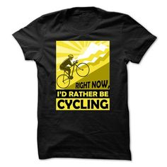 Cycling t shirt Id rather be cycling T Shirts, Hoodies, Sweatshirts. GET ONE ==> https://www.sunfrog.com/Sports/Id-rather-be-cycling.html?41382