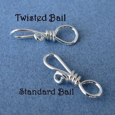 Handmade Bails Sterling Silver Wire Wrapped by RockisMetalwork