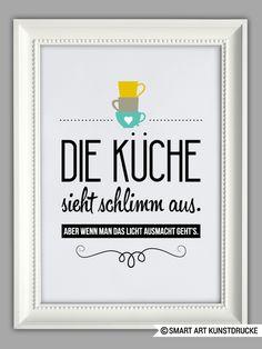 """Originaldruck - """"KÜCHEN AUFGERÄUMT"""" Kunstdruck - ein Designerstück von Smart-Art-Kunstdrucke bei DaWanda"""