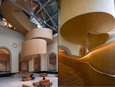 The most beautiful staircase I've ever seen - Art Gallery of Ontario by Frank Gehry Scandinavian Architecture, Wood Architecture, Amazing Architecture, Architecture Details, Alvar Aalto, Frank Gehry, Exterior Design, Interior And Exterior, Exterior Paint