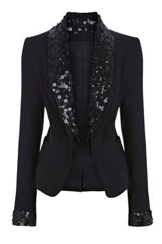blazer and tshirt outfit Luxury Clothing Brands, Sequin Blazer, Blazer Outfits, Jackett, Mode Style, Mantel, Ideias Fashion, What To Wear, Winter Fashion