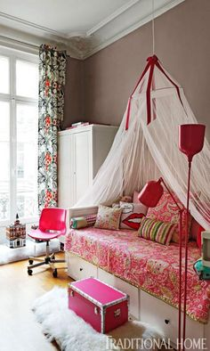 Beautiful Bedrooms | Childrens Rooms/ a Teens Room | A Colorful Paris Apartment | Traditional Home