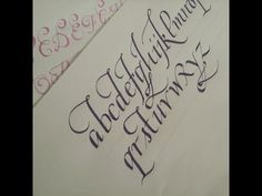how to write calligraphy letters - easy version for beginners - YouTube