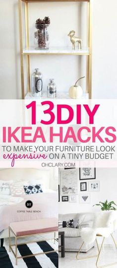 I have complied a list of 13 of the very best DIY IKEA Hacks that anyone can do! These Ikea hacks will be sure to jazz up your furniture and leave your house looking beautiful. The best ikea ideas, ikea kitchen, diy ikea hack, kids ikea hack, bedroom ikea Ikea Hacks, Ikea Hack Storage, Diy Storage, Hacks Diy, Storage Ideas, Food Storage, Smart Storage, Storage Baskets, Storage Solutions