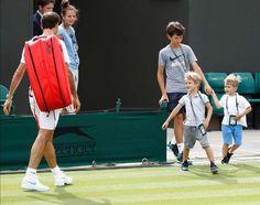 Roger Lenny and Leo Roger Federer Family, Wimbledon, Leo, Celebrities, Italian Recipes, Sports, People, Golf, Photos