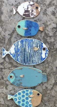 Driftwood Fish, Painted Driftwood, Wooden Fish, Wooden Art, Fish Wall Art, Fish Art, Fish Crafts, Beach Crafts, Recycled Crafts