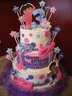 Pin Creation Station Dora Birthday Cake Ideas On Pinterest